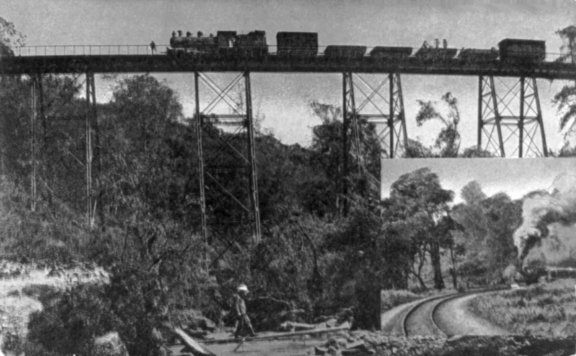 Kenya-Uganda railway bridge, 1910