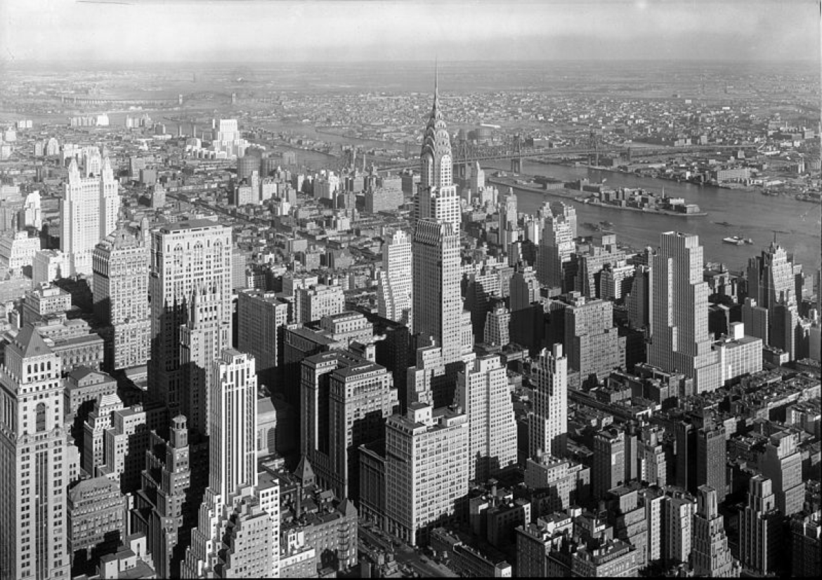 The iconic Art Deco Chrysler Building, New York, 1932
