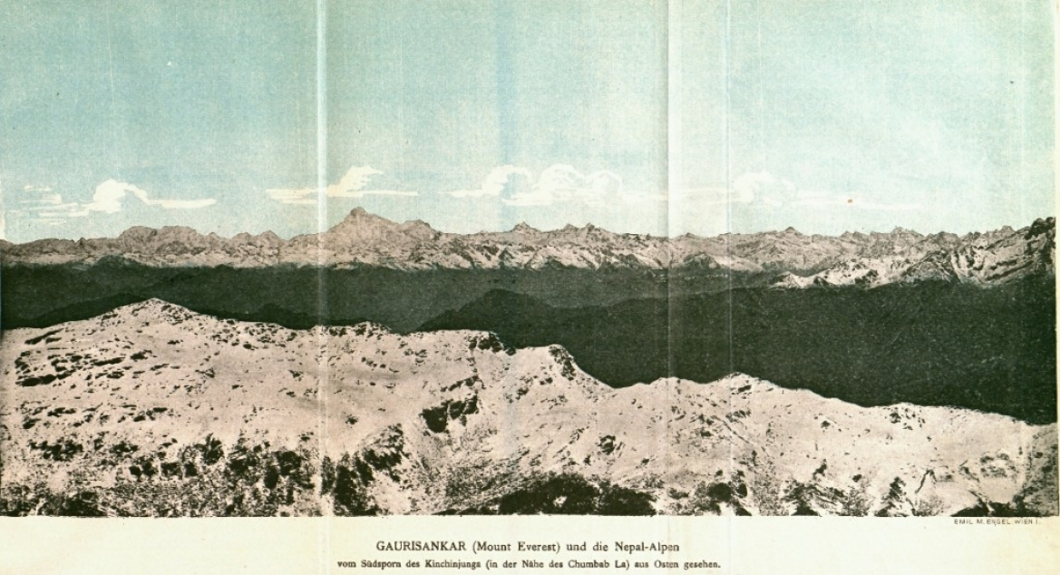1896 Graphic of Everest and Nepal Himalayas