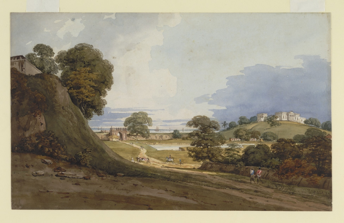 Painting of View of Cleveland House by Robert Smith, 1814