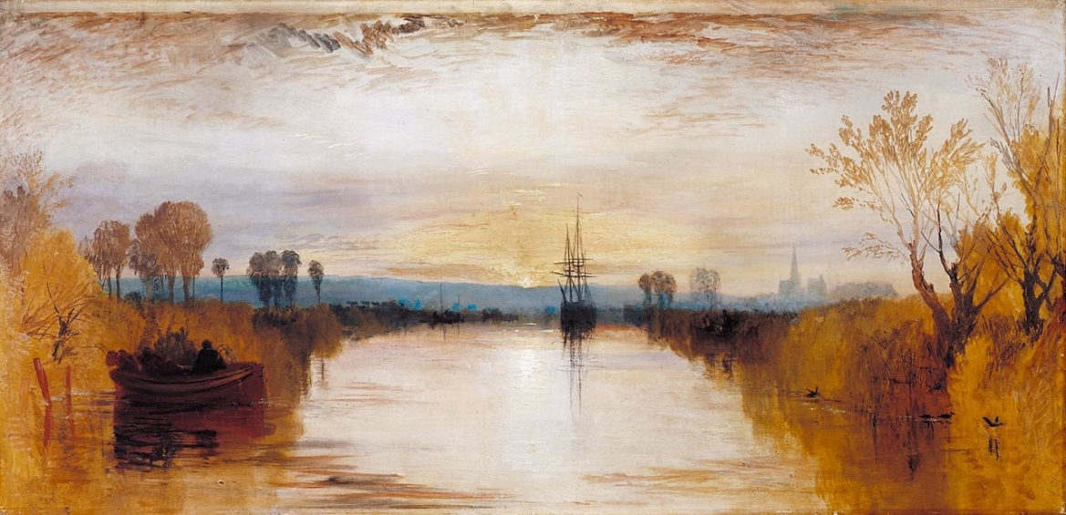 Painting of Chichester Canal, UK with Tambora's ash cloud, J.M.W. Turner, Tate Collection