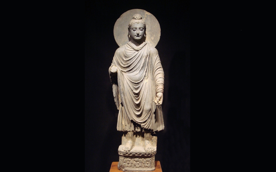 Standing Buddha sculpture of the Gandhara School of Art