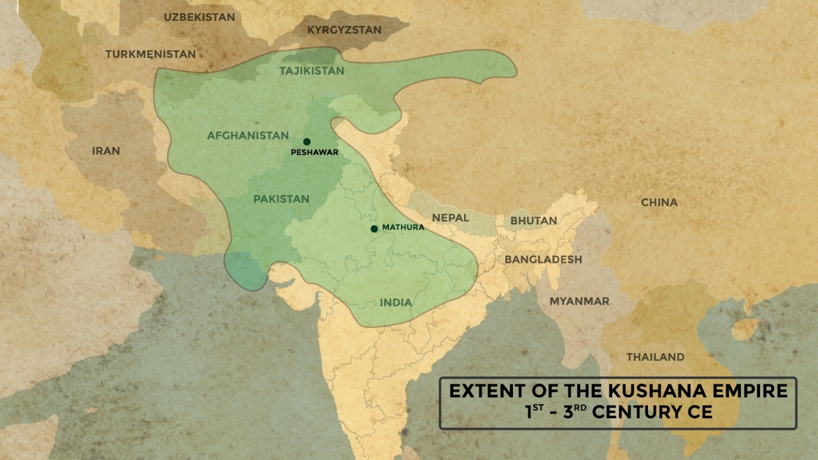 Maximum Extent of the Kushana Empire