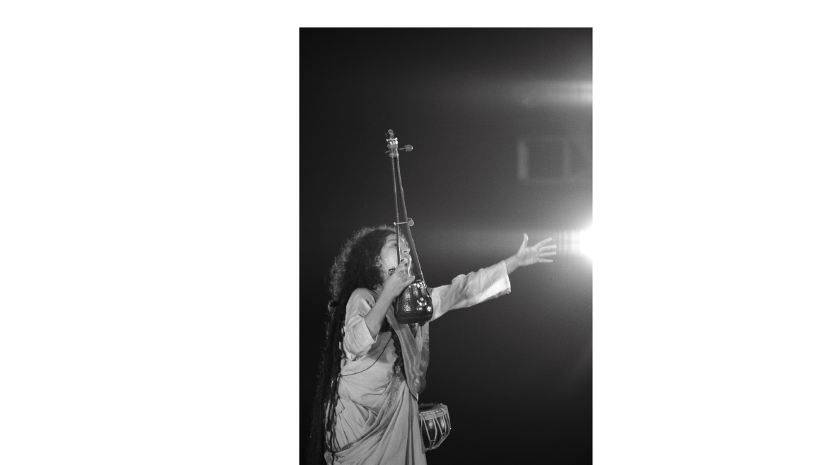 Famed Baul singer Parvathy Baul with the Ektara and Duggi dream