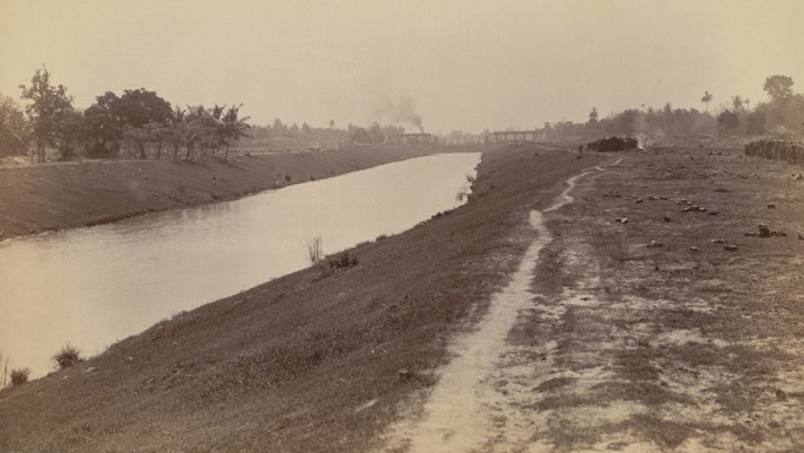 Canal from Tolly's Nullah to Dock, Calcutta Docks, 1890