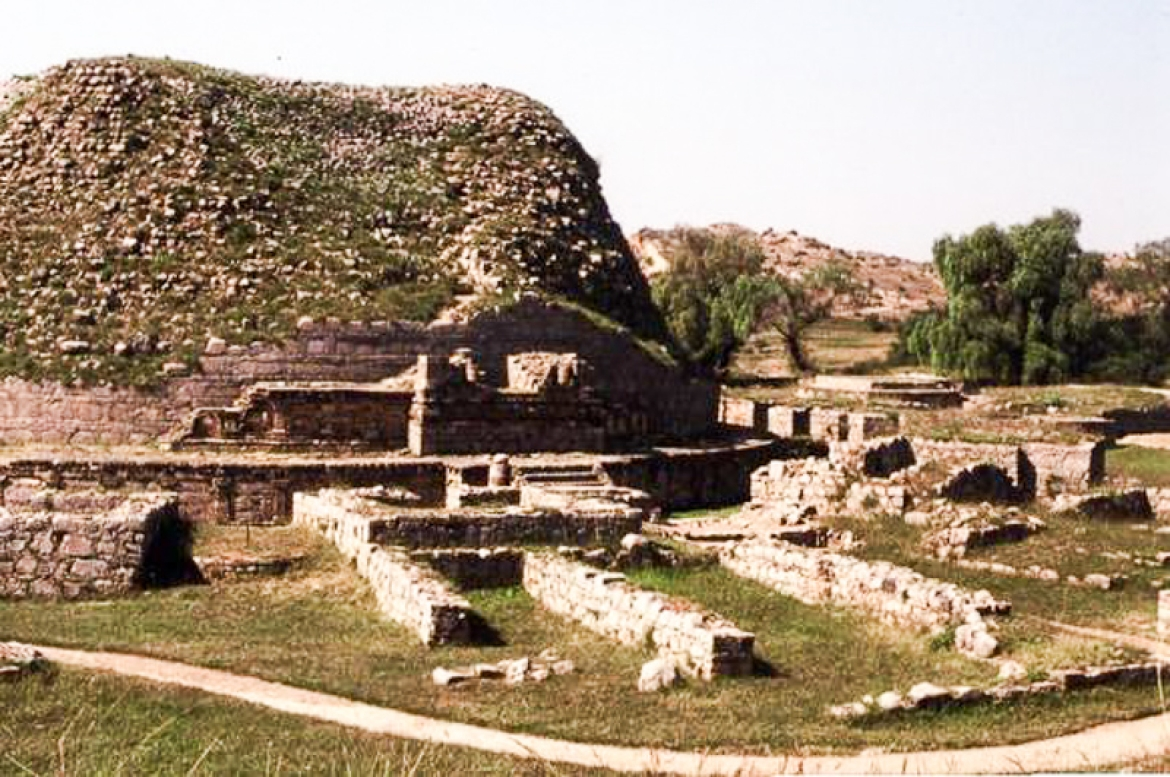 Remains of the city of Sirsukh built by Kanishka