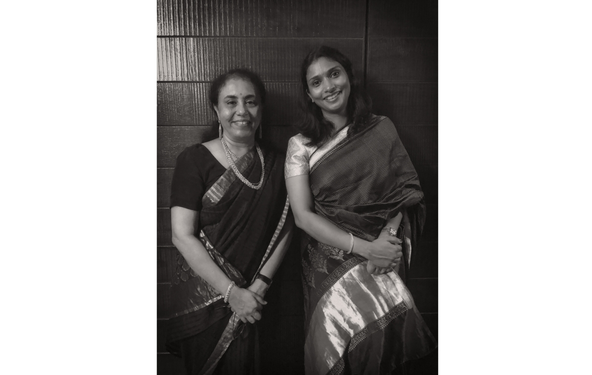 Dr. Usha Balakrishnan (left) with co-author Deepthi Sasidharan