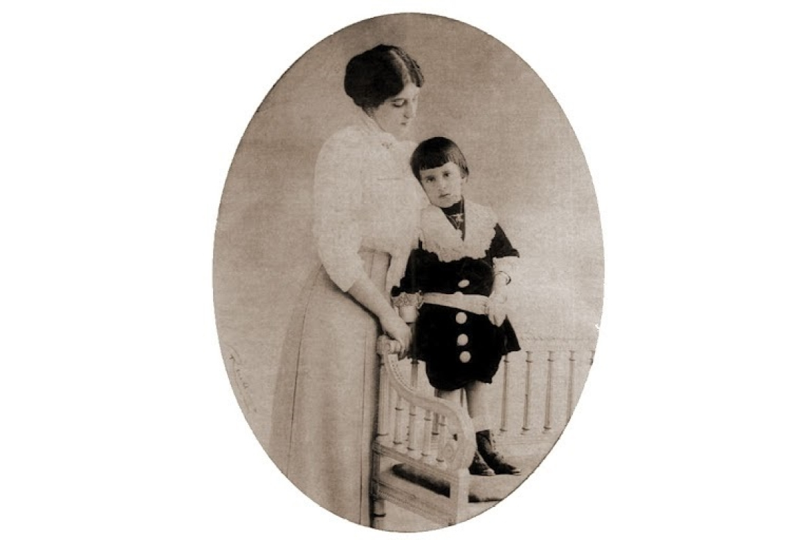 Anita with her son Ajit