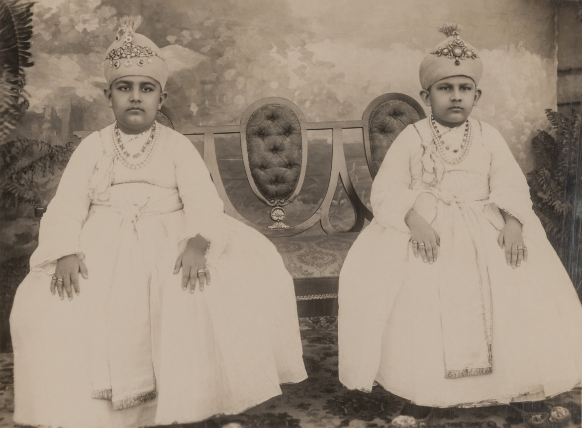 Sahebzada Azam Jah and Moazzam Jah, sons of Mir Osman Ali Khan, c. 1920