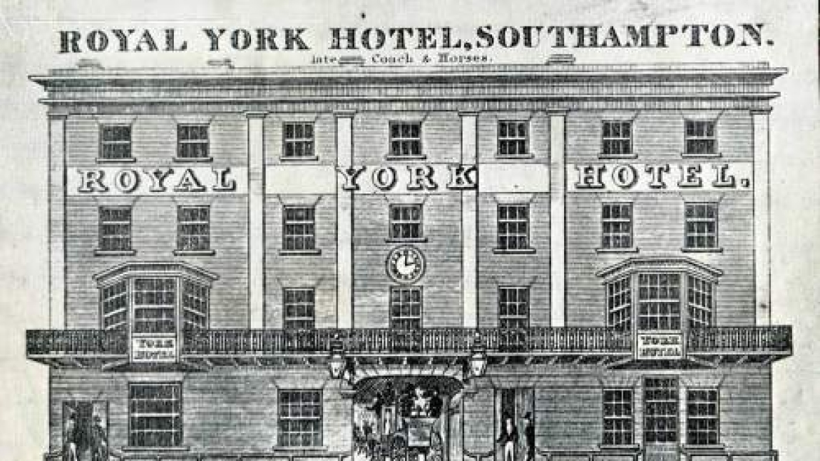 An old ad of the Royal York Hotel, Southampton