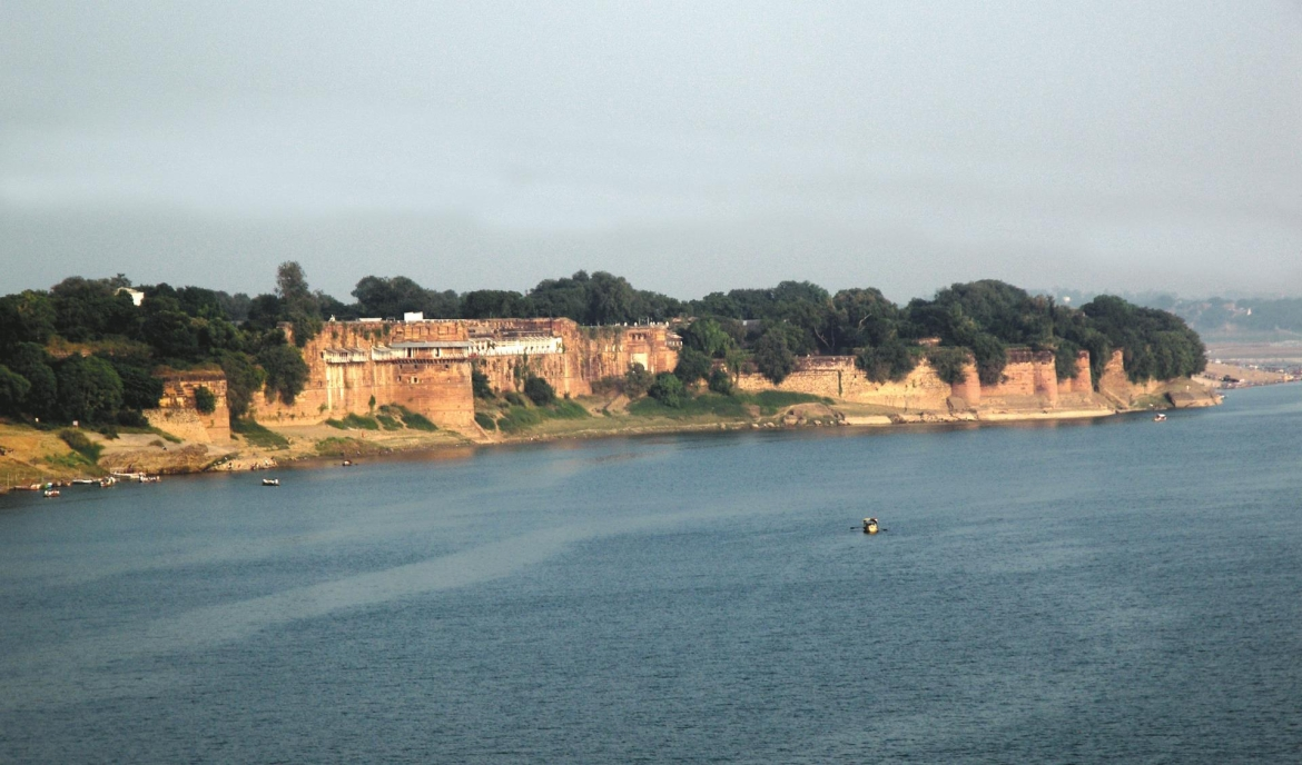 Recent photograph of the Fort of Allahabad