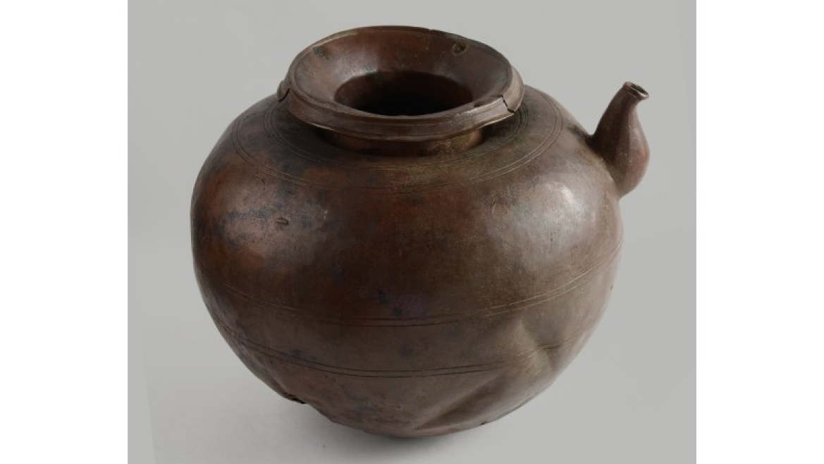 The copper pot in which the Bayana coin hoard was found