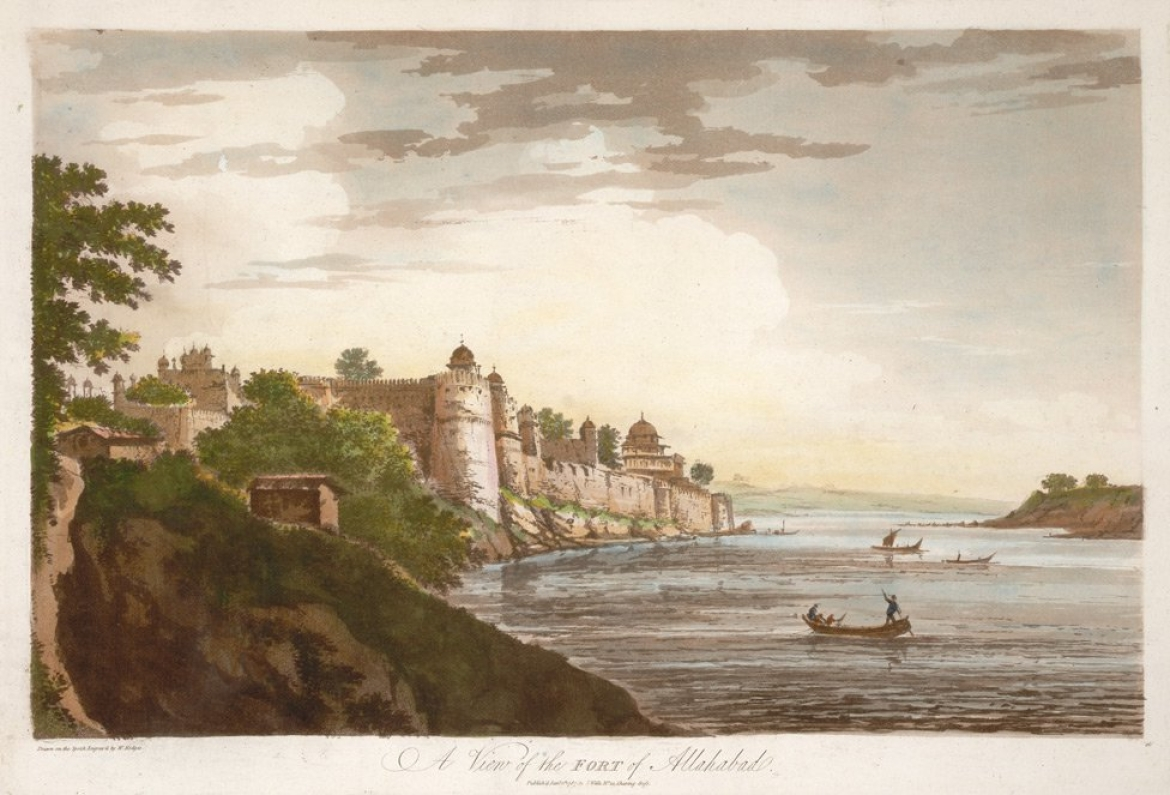 19th Century Lithograph of Allahabad Fort