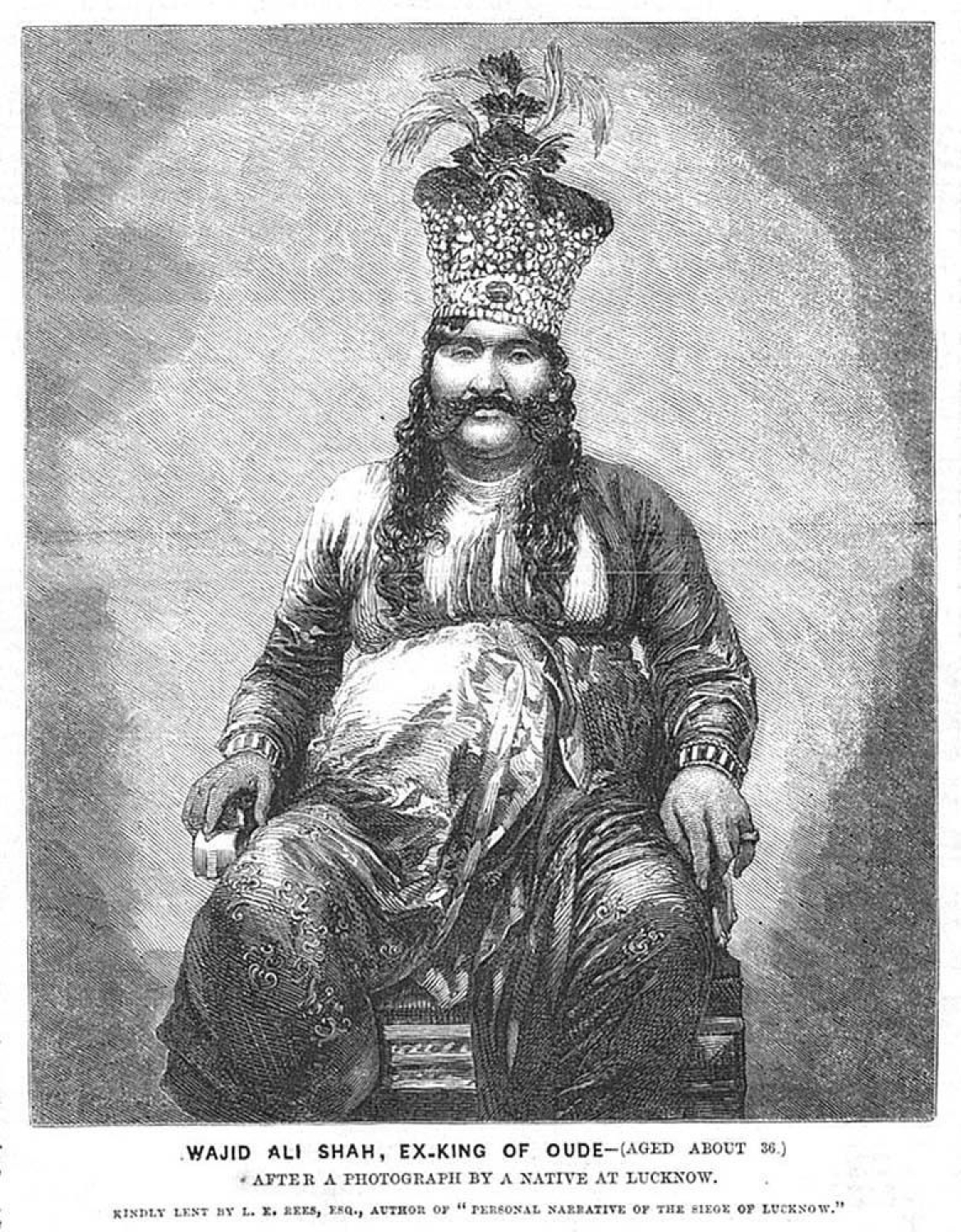Wajid Ali Shah, Last King of Awadh and son of Queen Malika Kishwar