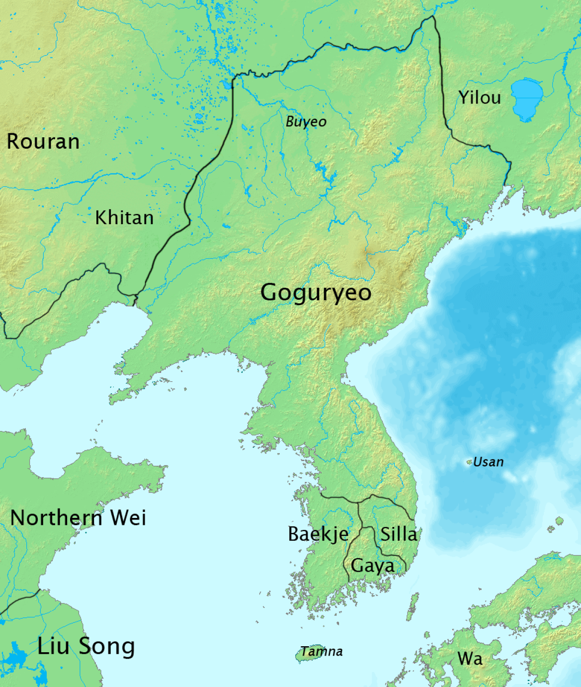 The Three Kingdoms of Korea - Goguryeo, Baekje and Silla (c. 5th century)