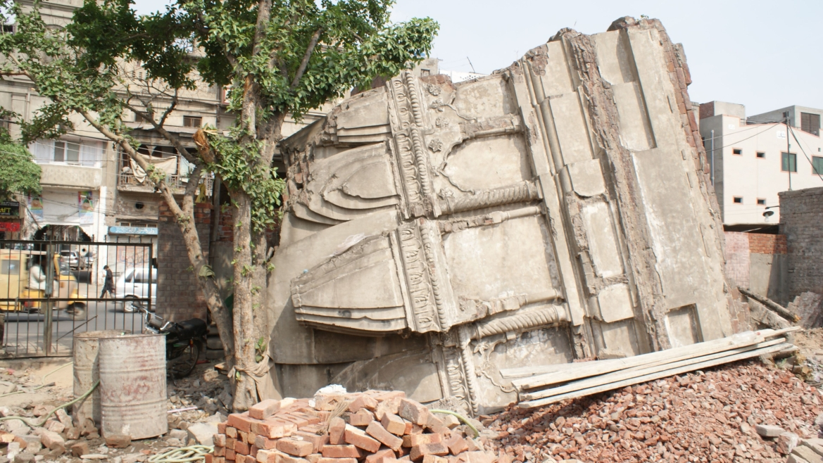 Remains of the Jain Mandir next to Chauburji