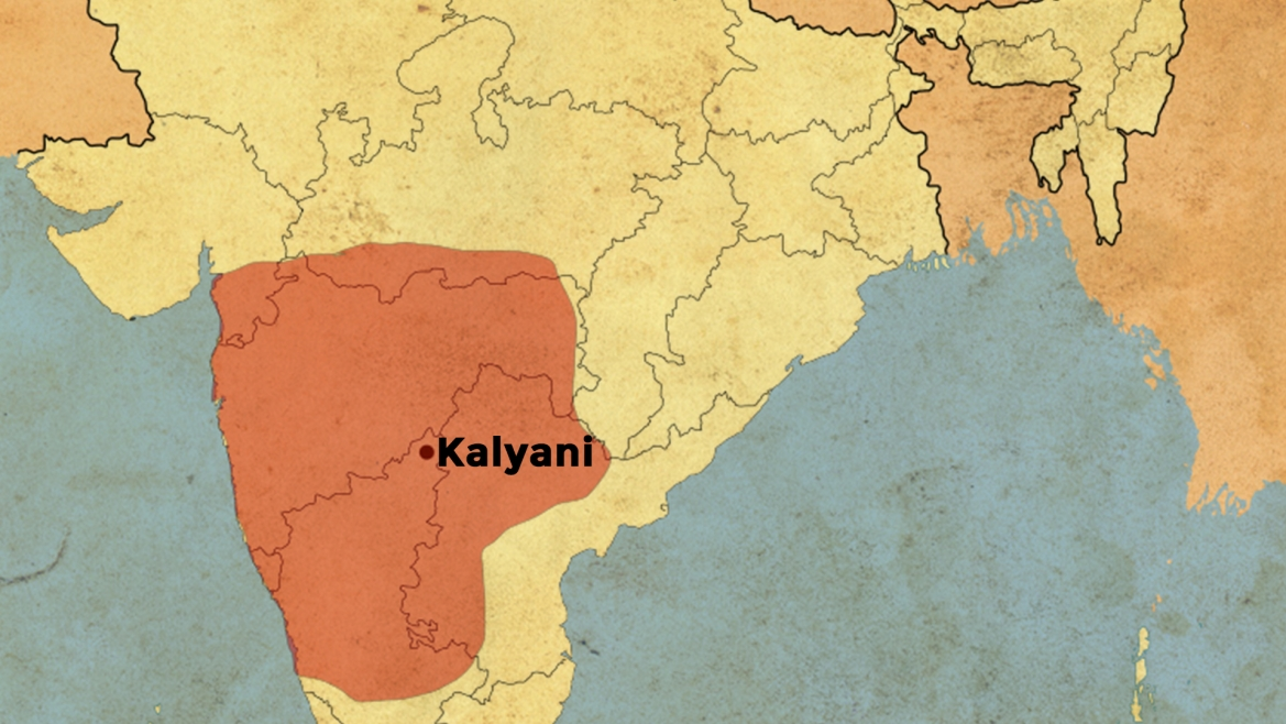 Extent of the Western Chalukyan kingdom