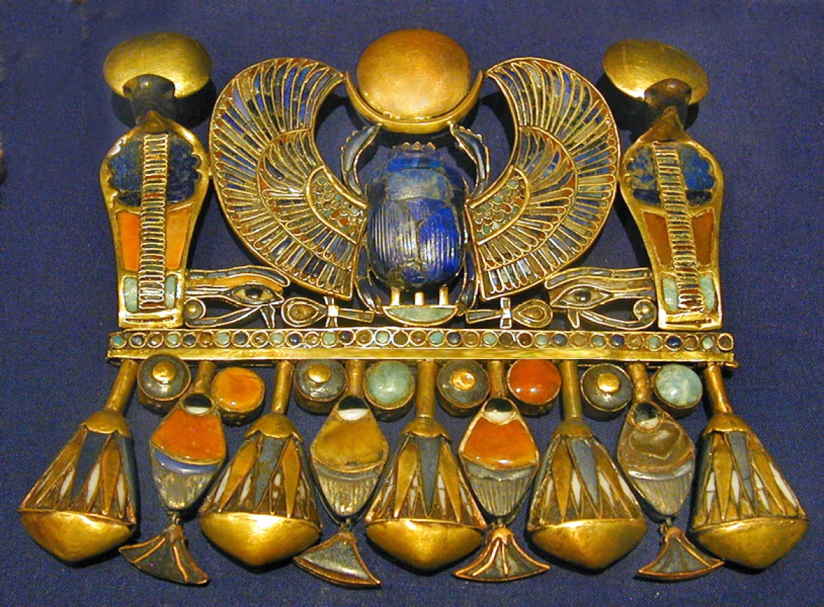 Tutankhamun scarab from ancient Egypt