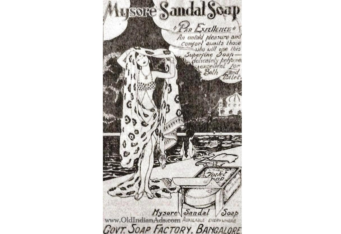 An early advertisement for the Mysore Sandal Soap