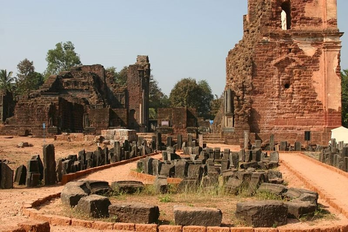 Ruins of Church of St Augustine in Old Goa