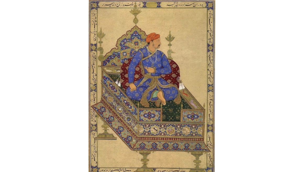 Shahzada Salim (Jahangir) depicted as the Emperor by Mansur