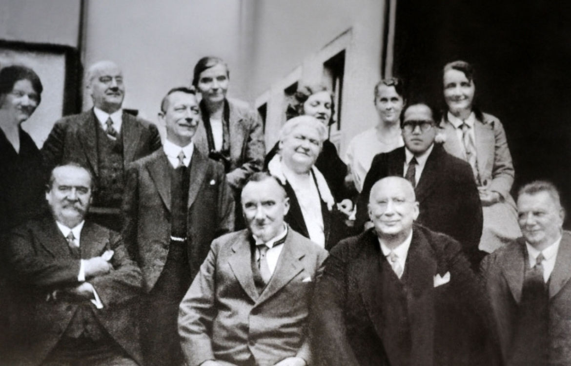 Ambedkar at the London School of Economics with fellow students and professors