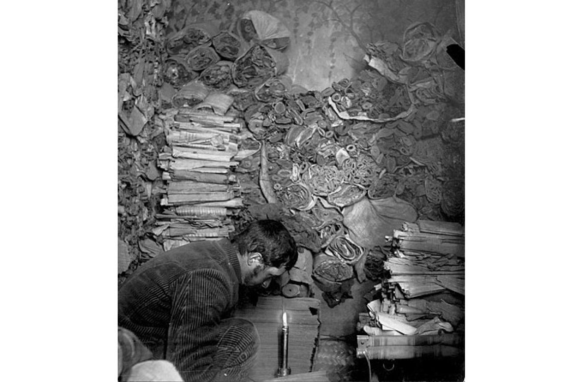 Manuscripts in the Dunhuang Library Cave, 1908