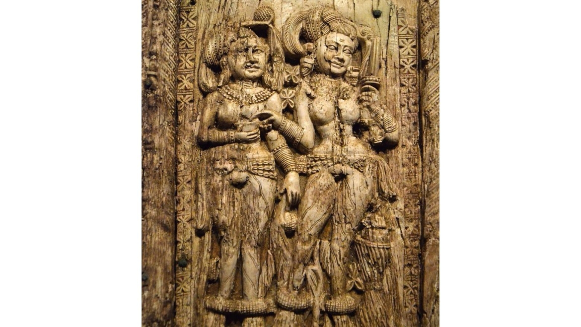 Decorative plaque from Begram