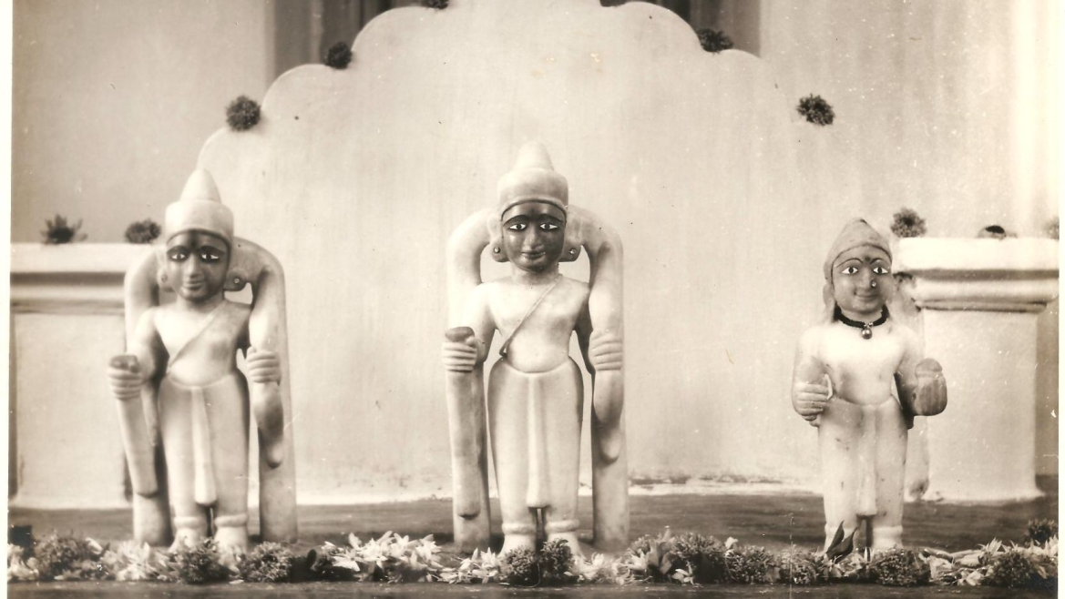 Old photograph of the Rama temple