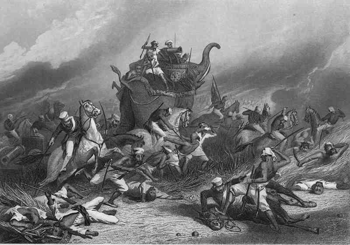 British Battle at Jhansi