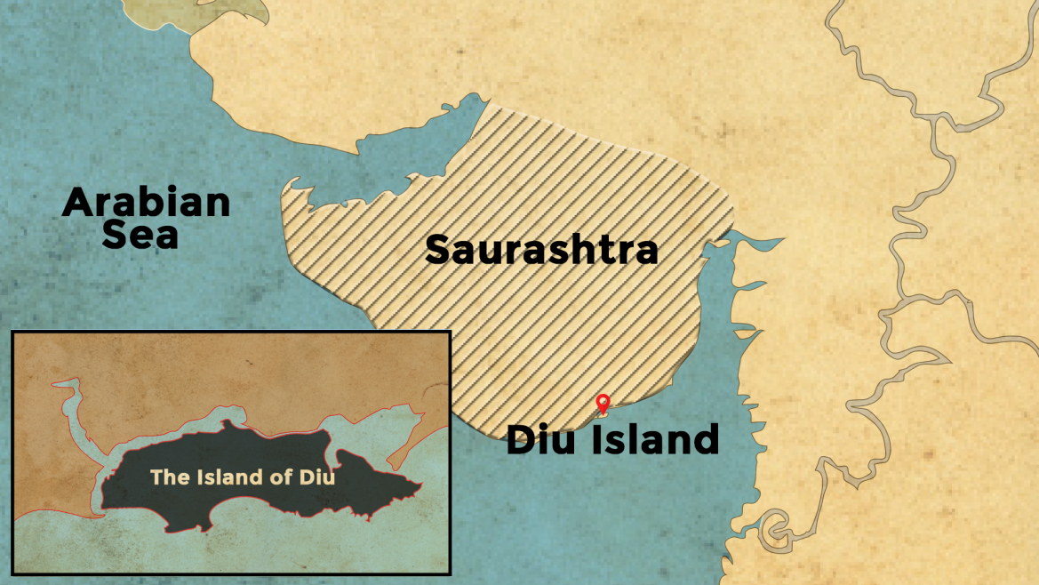Location of Diu