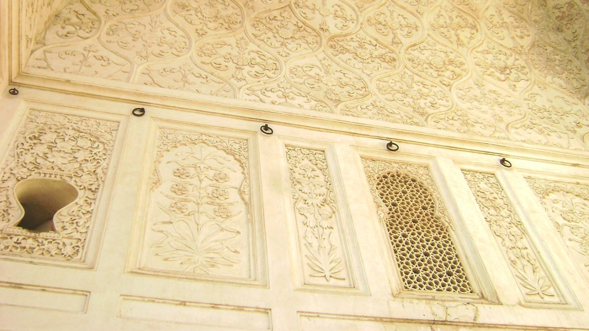 The designs on the walls