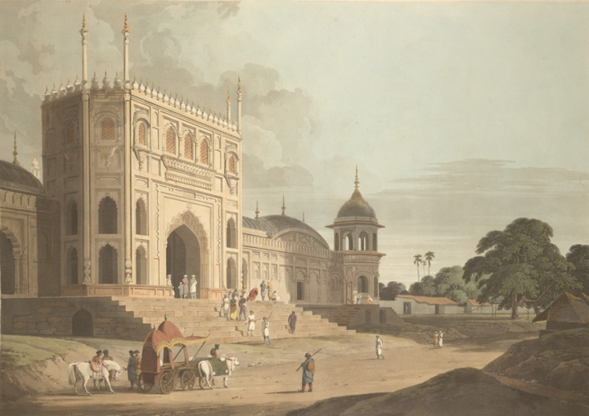 Jama Masjid Main gateway painting by Thomas Daniell