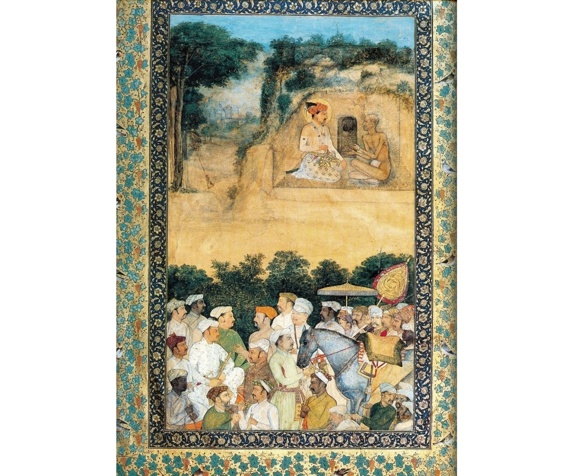 Jahangir visiting the ascetic Jadrup. ca. 1616-20