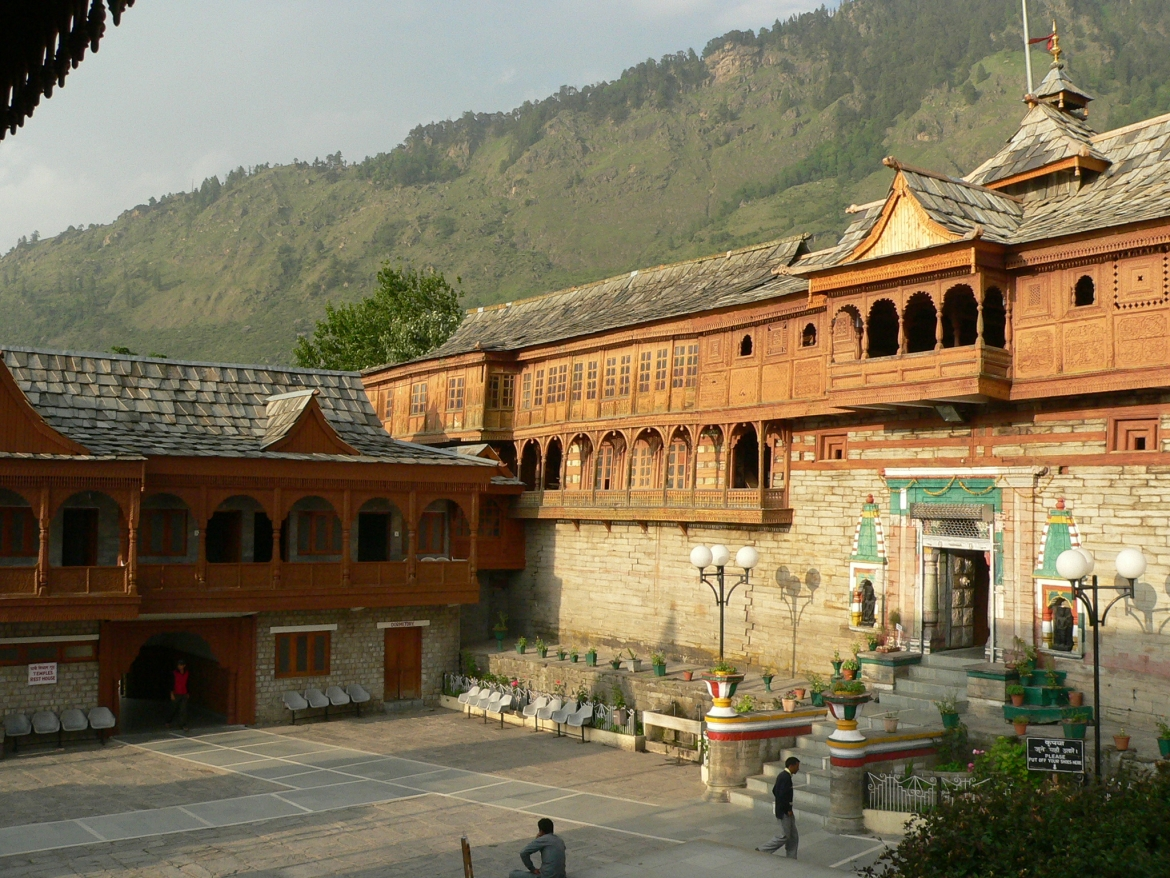 View of the first courtyard of Bhimakali Temple