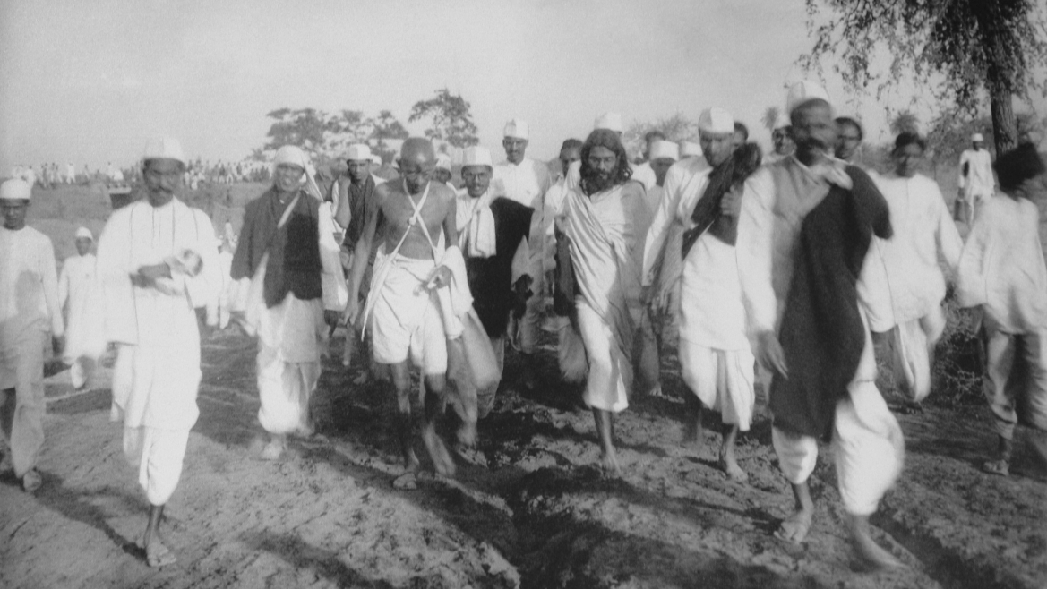 Gandhi during the Salt Satyagraha