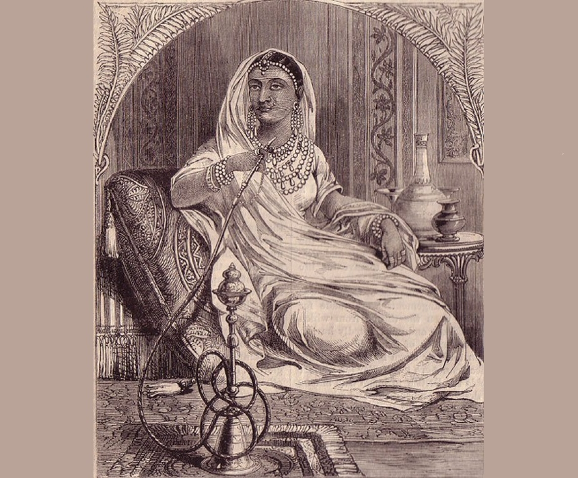 An imaginative sketch of the Rani from a British Journal