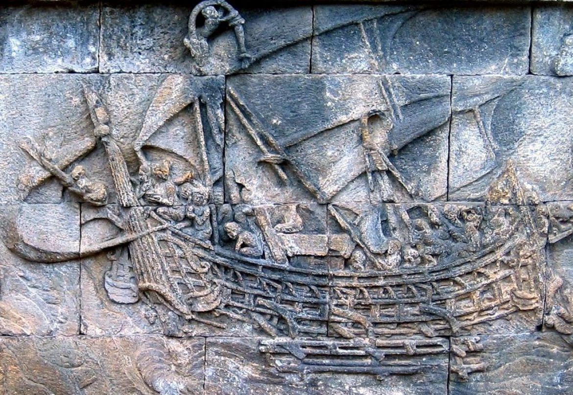 Carving of the Borobudur Ship