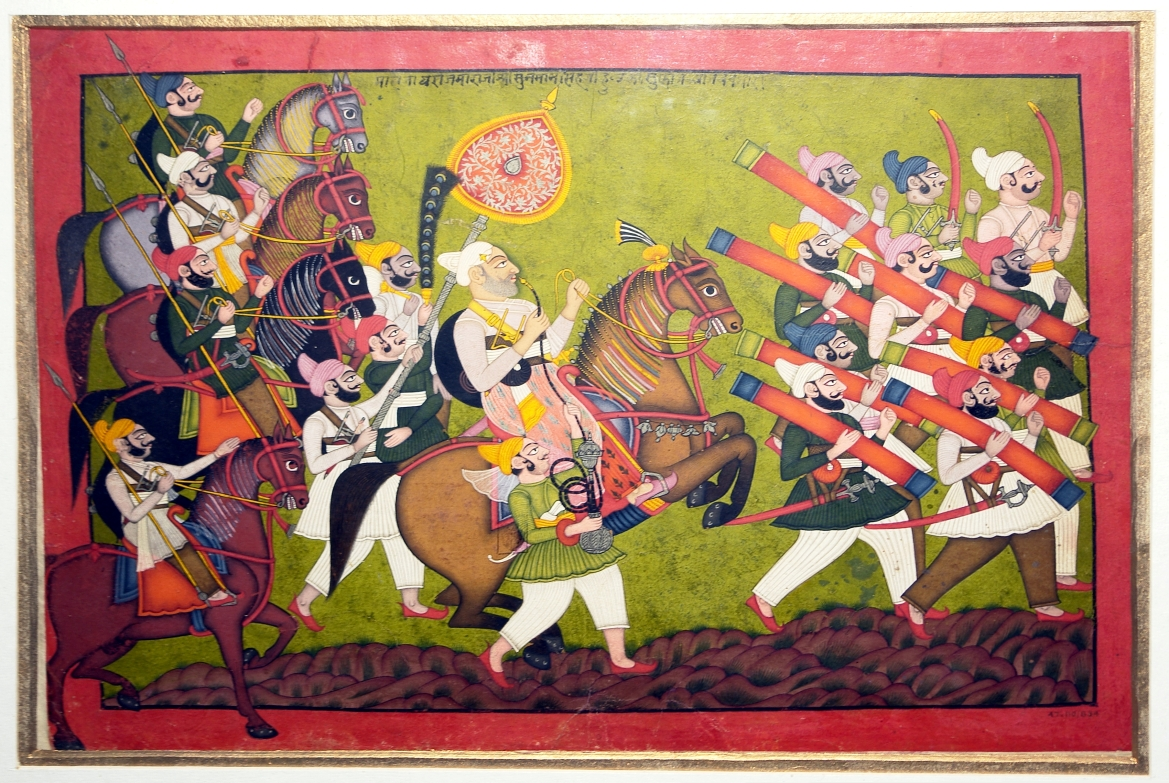 Royal procession of Raja Sunman Singh of Indergarh