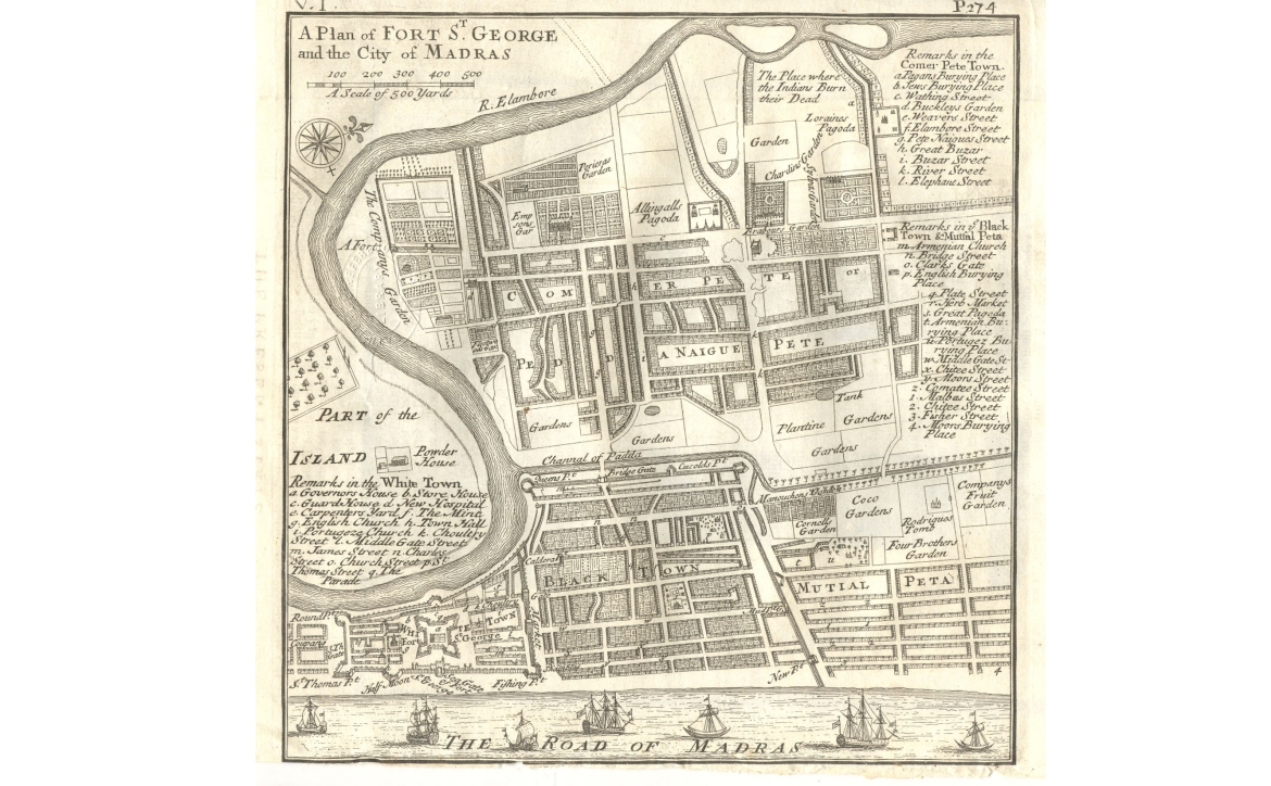 Plan of Fort St George and the city of Madras, 1726