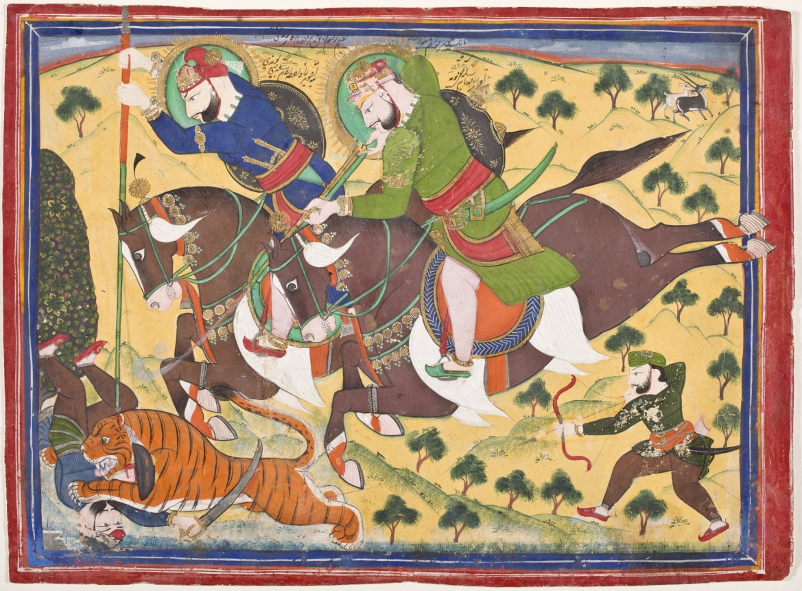 Maharao Ram Singh II of Kota Hunting with Maharao Ram Singh of Bundi