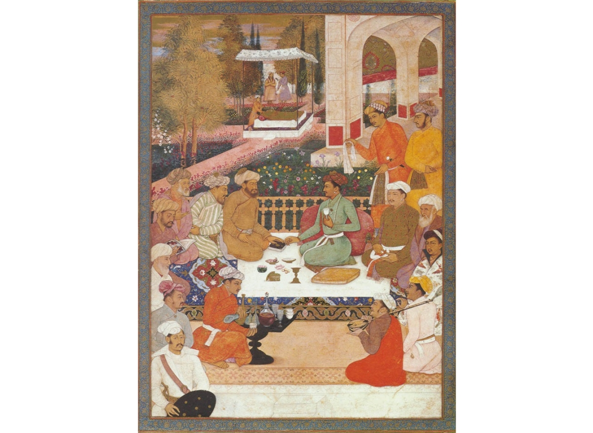 Dara Shukoh with philosophers, painted by Bichitr