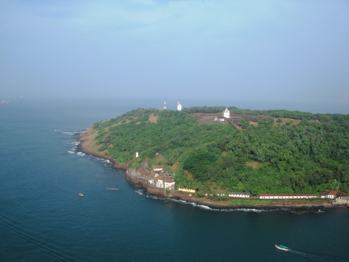 Aguada Fort overlooking the Arabian Sea