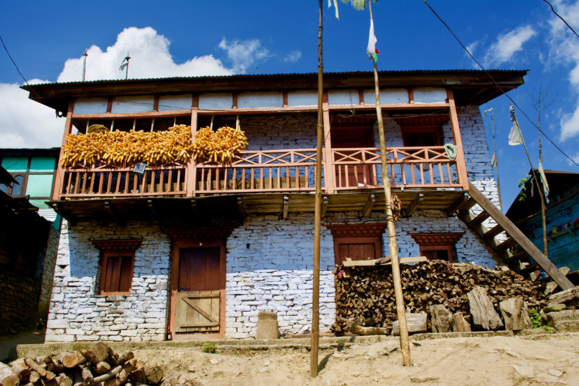 A house in Thembang
