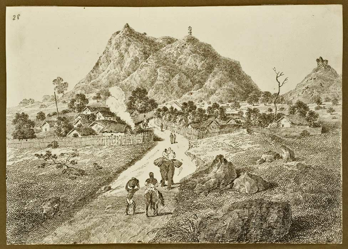 Silwar Hill Tower (sketch by D'Oyly, Sir Charles)