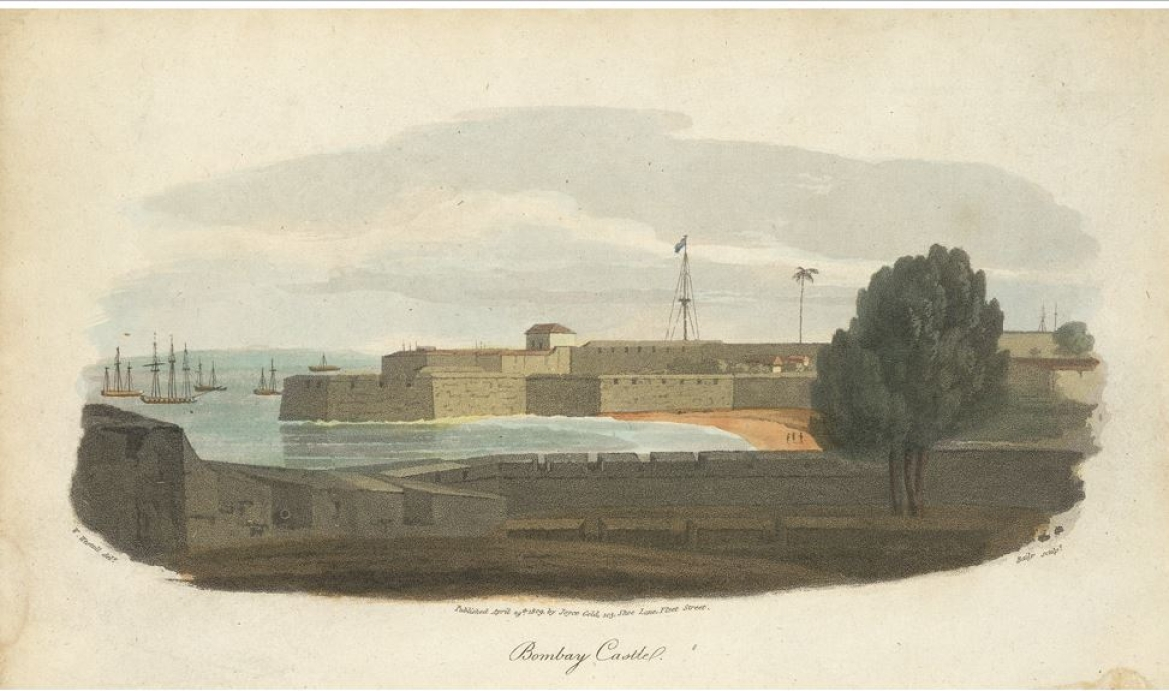 Bombay Castle in the 1800s