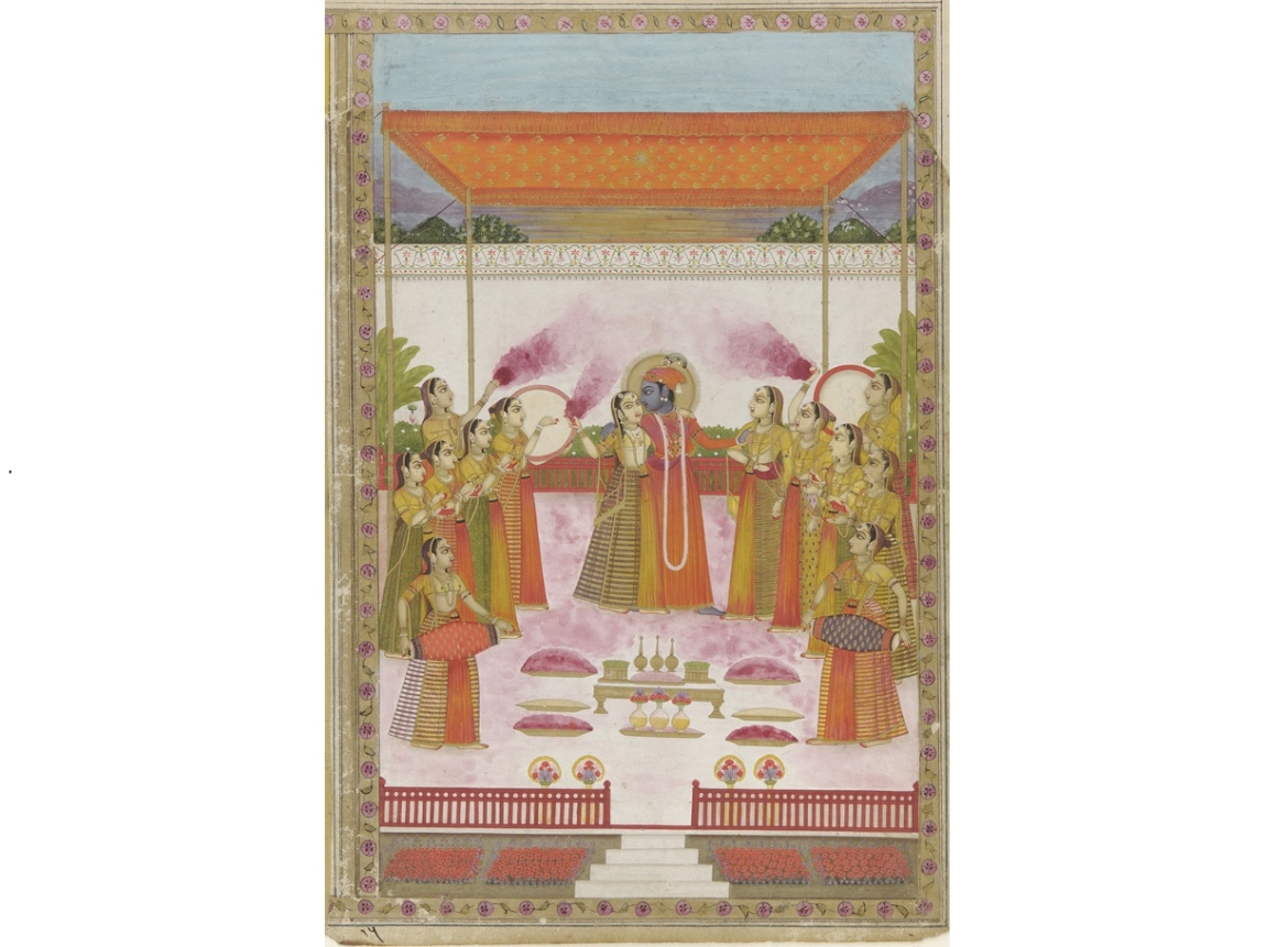 Krishna, Radha and Gopis, Lucknow Mughal, 19th century