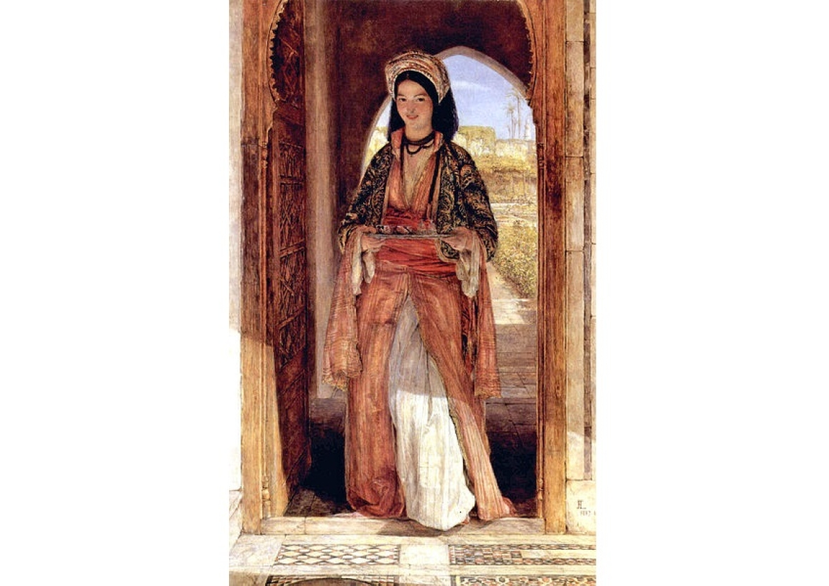 The Coffee Bearer by John Frederick Lewis (1857), Ottoman quarters in Cairo, Egypt