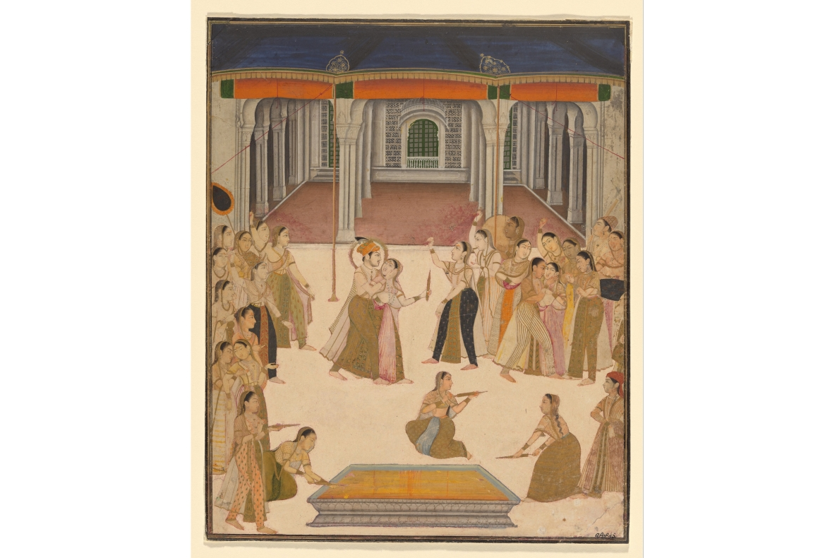 Emperor Jahangir celebrating Holi with the ladies of the Zenana, Lucknow, c. 1800