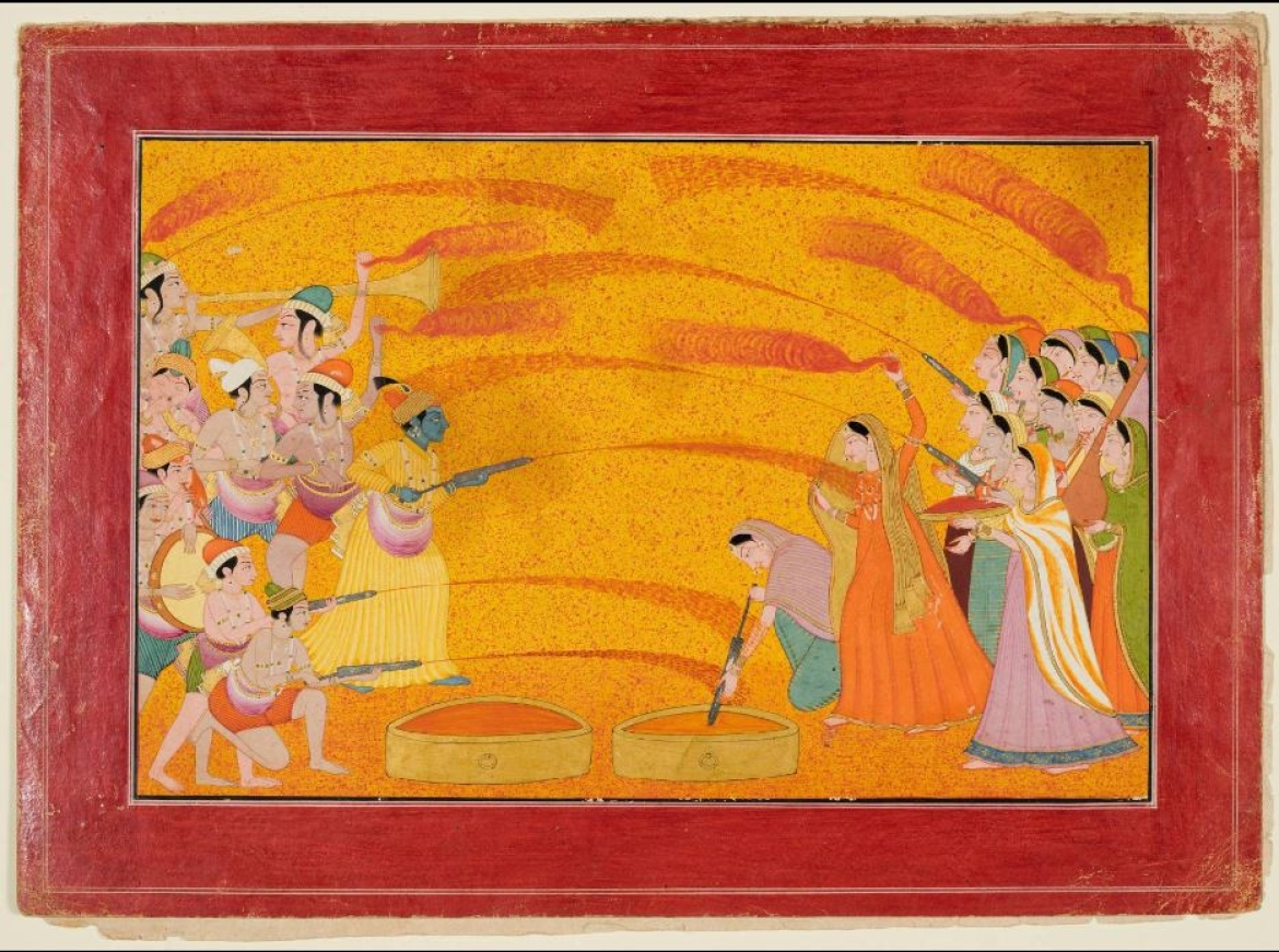 Krishna Celebrating Holi, Guler 1770